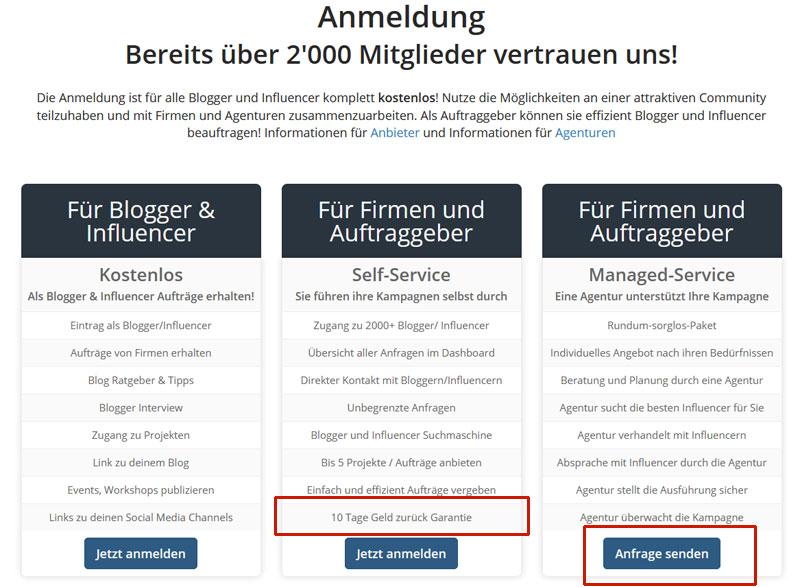 Bloggerheldung-Registrierung