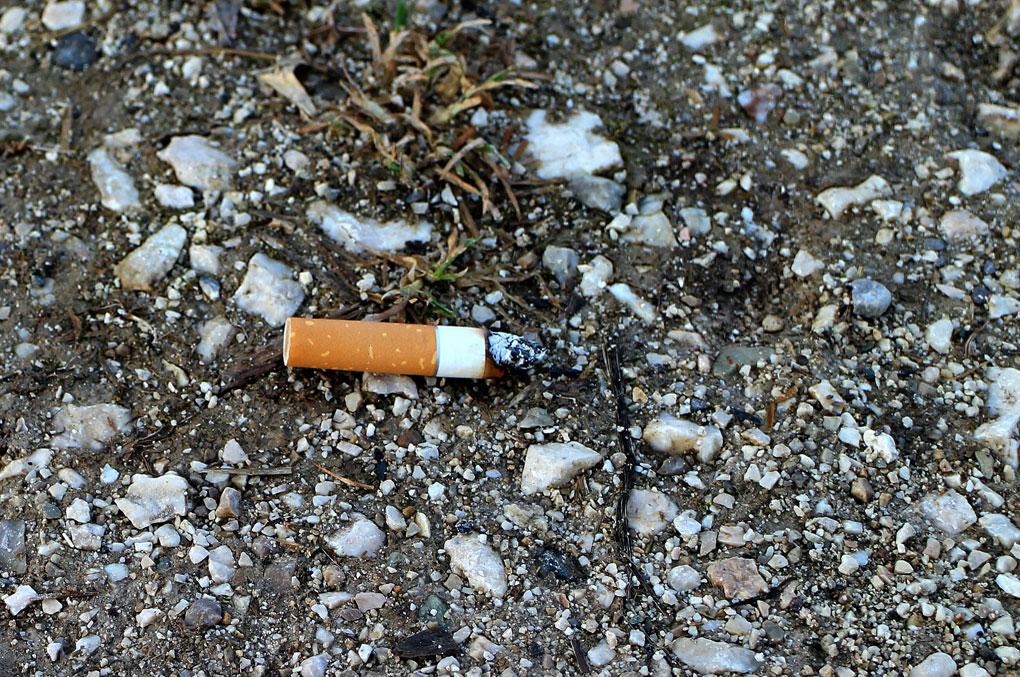 Frankreich-gegen-Zigarettenstummel