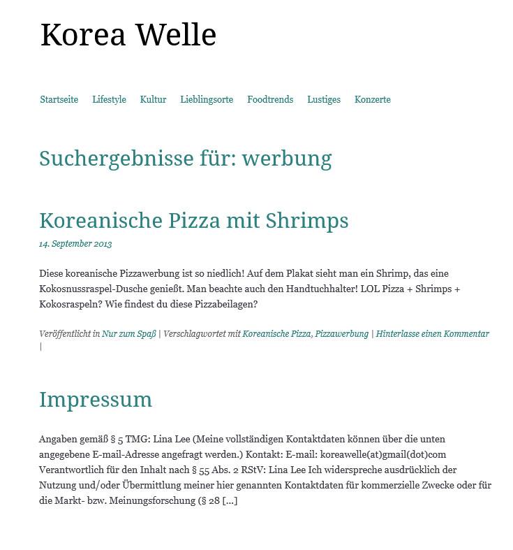 Koreawelle-Werbung
