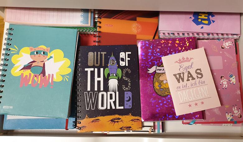 Notizbücher helfen, um Ziele zu erreichen
