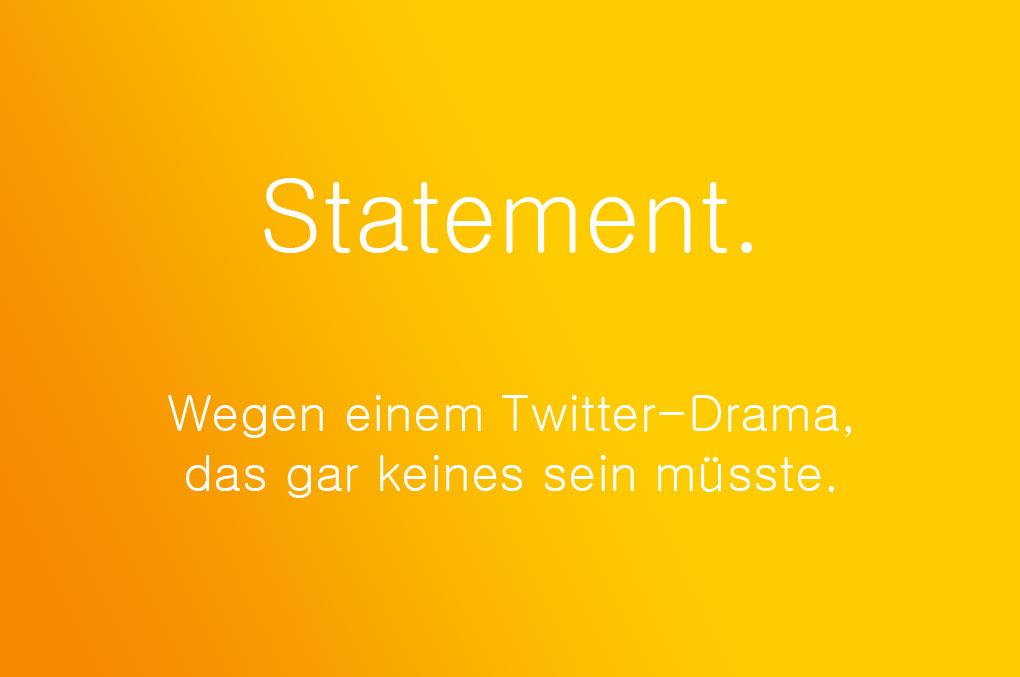 Twitter-Statement
