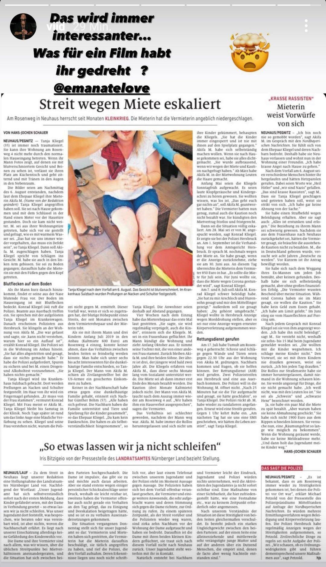 Zeitungsausschnitt-Originalgröße
